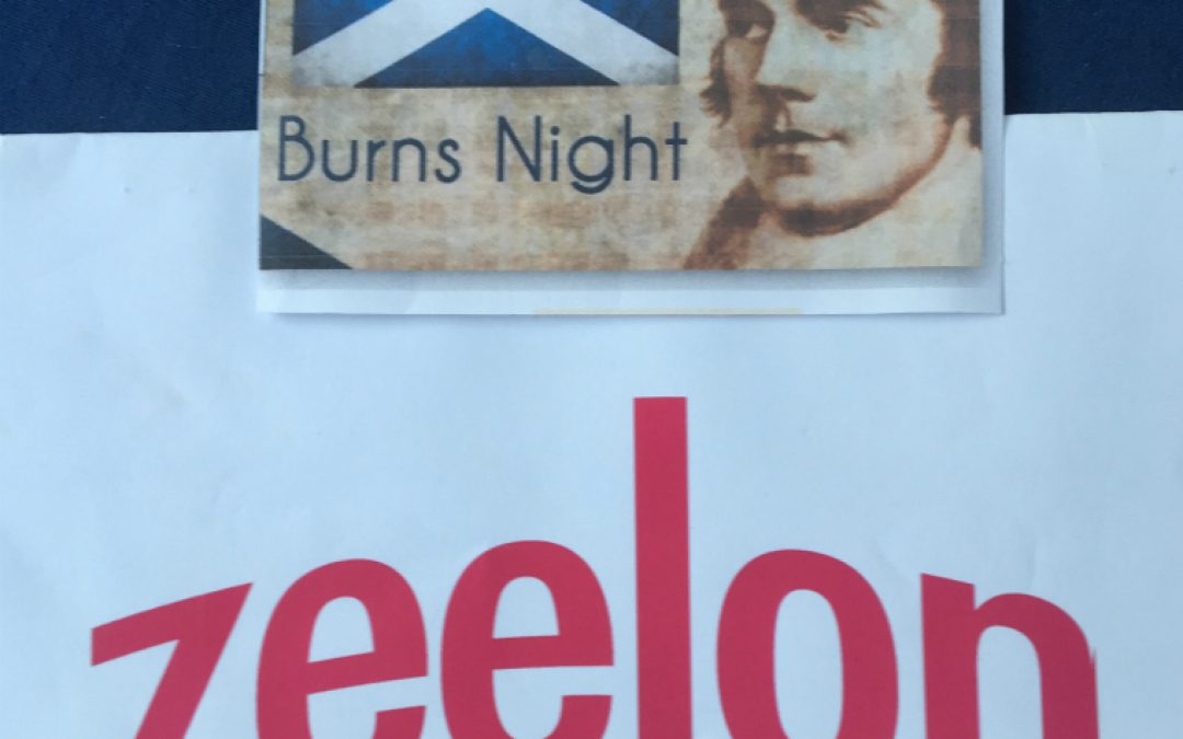 Poem by Robert Burns (printed on Zeelon Heavy)